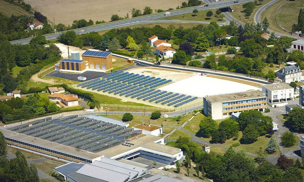 Centrale solaire thermique du réseau de chaleur de la ville de Pons